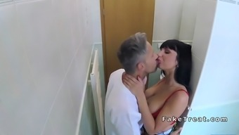 busty patient licked and fucked by doctor
