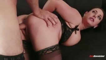 Fantastic Australian beauty Angela White is ready to give a terrific deepthroat BJ