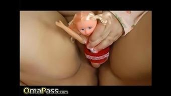 OmaPasS Fatty Grandma is Playing with Doll
