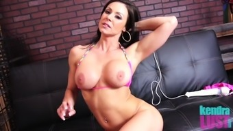 Milf Kendra Lust with big tits fingering pussy seductively
