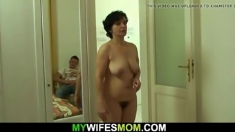 my wife's old mother gives head and rides cock