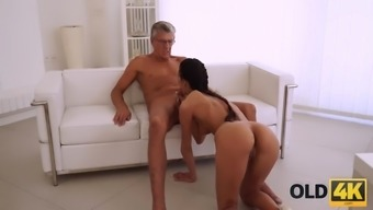 Old4k. old daddy penetrates smokinghot secretary in several poses