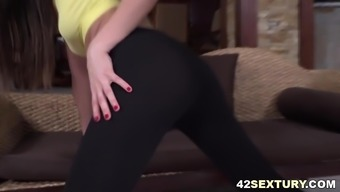 Tina Kay loves anal yoga