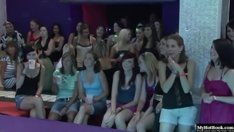 Its a room filled with hot and horny college chics, who will be watching ...