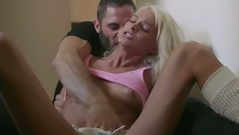 Bent over the wall submissive Emma Hix gets hammered from behind
