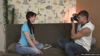 Lovely shy teen Yana turned to be nasty anal insane slut