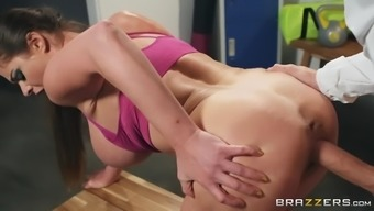 cathy heaven gets doggystyled by danny d in the locker room