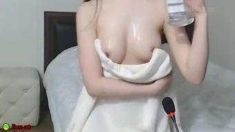 korean sweet camgirl in sexy costume