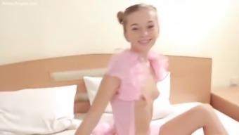 cute teen sunna teasing in pink