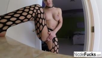 Nicole's self shot solo masturbation