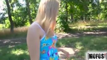 Mofos - Alana Moon - Cute blond teen gets fucked outdoors