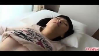Asian teen gives a fetish blowjob