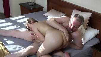 Young girl craves for senior cock so she fucks with her grandpa