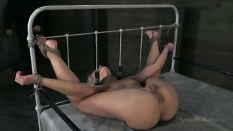Hot blond slave Anikka Albrite is ordered to suck a stiff cock