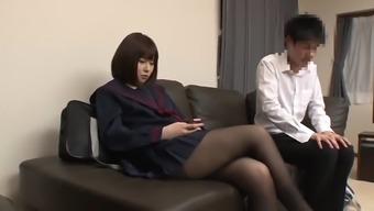 Asian in pantyhose