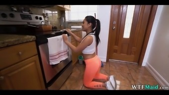 Sexy new asian maid