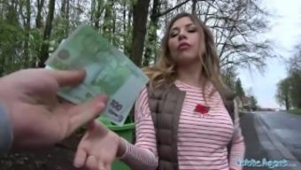 Public Agent Russian hotty loves daylight outdoor sex