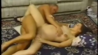 Lascivious and wild pregnant slut Keri Starr can't wait to get fucked hard