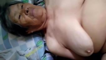 big tits chinese granny