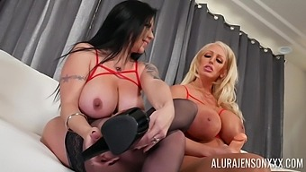 Lesbian Alura Jenson decides to have fun and lesbian sex with Sheridan Love