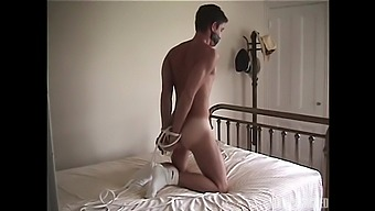 Keith Evans plays gay sex games with his friend while he is tied