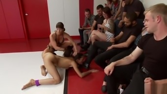 Wrestler fucked and disgraced at gym