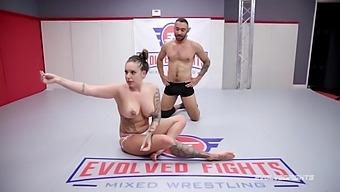 Tori avano nude wrestling battle fingered and sucks a cock