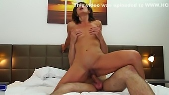 Mature wife cheating with young boy in hotel