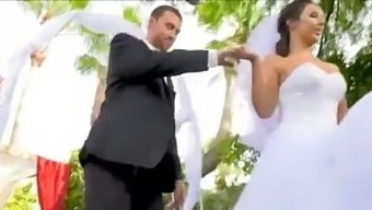 Sexy TS bride has one last fling