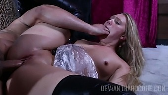 Hot blonde AJ Applegate enjoys hardcore sex experience with a dude
