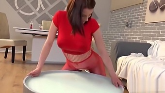 Curvy Redhead Pissing Her Panties