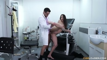 Amazing bootyful patient Lucia Nieto gets poked from behind by doctor