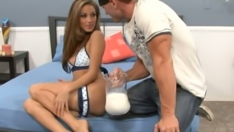 Jenna Haze is a cutie but also loves being naughty and her pussy tastes good