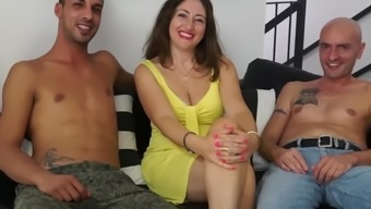 LETSDOEIT - Italian Milf Gets Drilled By Two Young Cocks