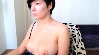 Huge nipples blowjob and masturbate part2