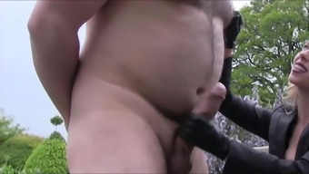 Playing With Bear Slave's Massive Cock