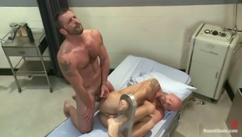 Mitch Vaughn gets his ass spanked and fucked by Morgan Black