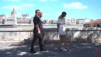 Slatko Malo Srpski Slut Comes to Hungary for Public BDSM!