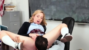 Teen deep throats teacher