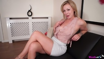 Ardent Lucy Lauren is horny blondie who loves working on her own twat