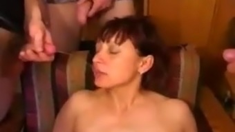 Russian mother humilation by group of young boys