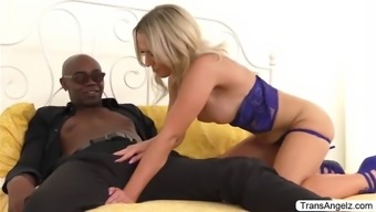 Ts kayleigh gets her ass rammed by seans bbc from behind