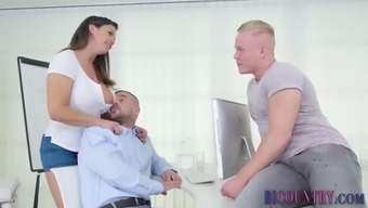 Bi studs ass toyed while stroking
