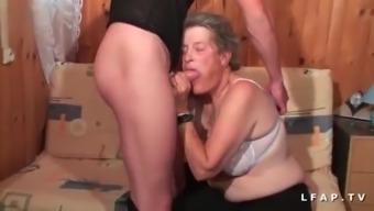 Old granny hard anal