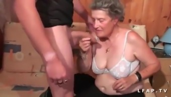 Old granny hard anal