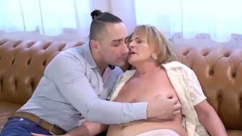 Big titted grandma plowed