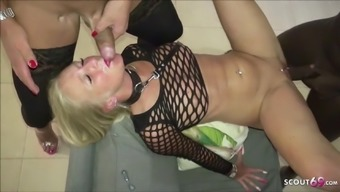Kacy Kisha German TS and Huge Black Cock in Threesome Fuck