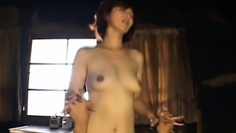 Foxy japanese babe gets her older snatch fingered and licked