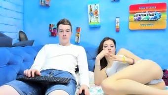 Hot Teen Webcam Girl Jerks Two Cocks