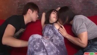 Kyouko maki fucked by two males and made more at japanesem
